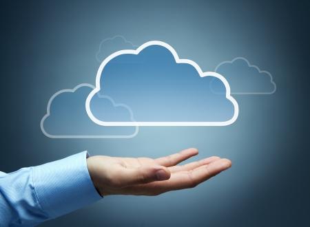 cloud: Cloud computing concept with copy space