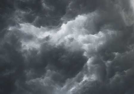 judgement day: Dramatic stormy clouds