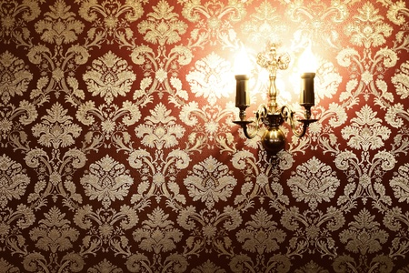 room wallpaper: Vintage stylish interior with copy space Stock Photo