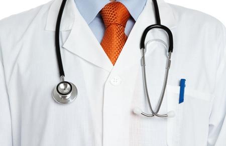 suit coat: Close up of doctors uniform