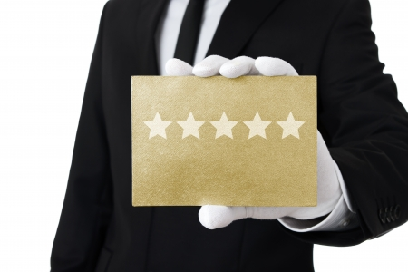 service card: Five stars service Stock Photo