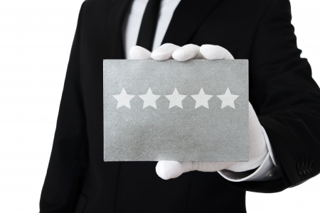 hotel service: Five star service Stock Photo