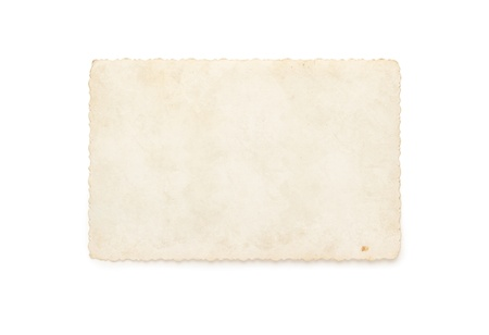 old photograph: Blank old photograph isolated on white background