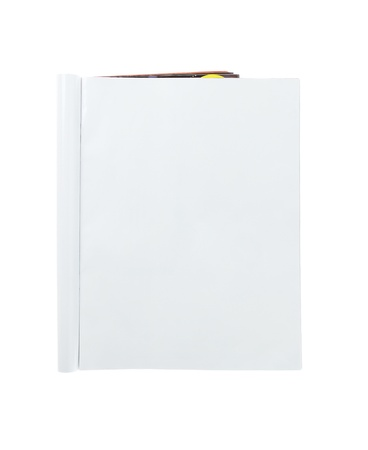 mag: Blank Folded Magazine Isolated On White Background Stock Photo