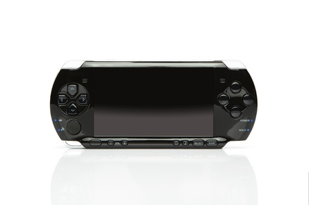 Portable game console with for the screen photo