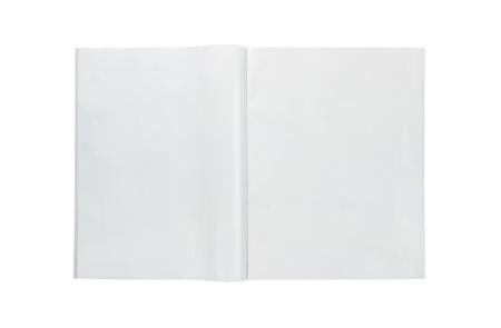 newspapers: Leeg open tijdschrift op een witte achtergrond
