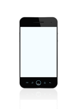 Blank Smart Phone Isolated On White With for the screen Stock Photo - 12538310