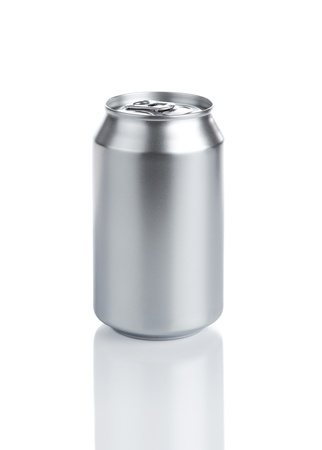 Blank Aluminum Soda Can Isolared On White Background photo