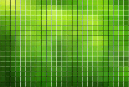 Green tiled mosaic background with copy space Stock Photo - 12538462