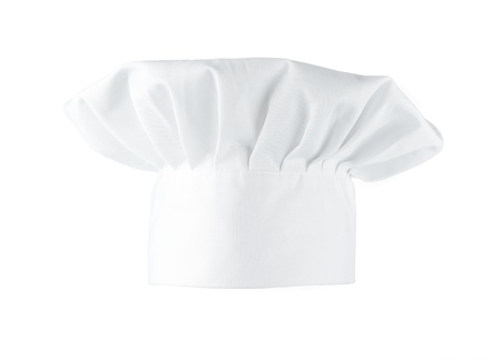Chefs hat isolated on white background photo