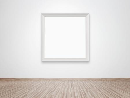 galeria fotografica: Marco de fotos en blanco en la pared
