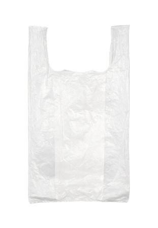 Se utiliza la bolsa de plástico vacía aisladas sobre fondo blanco Foto de archivo - 12863512