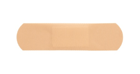 Adhesive bandage isolated on white