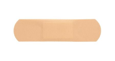 Vendaje adhesivo aislado en blanco