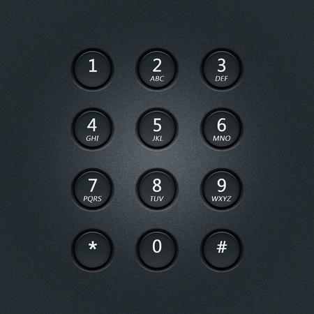 alarme securite: Cadran num�rique de la serrure de s�curit� ou par t�l�phone Banque d'images