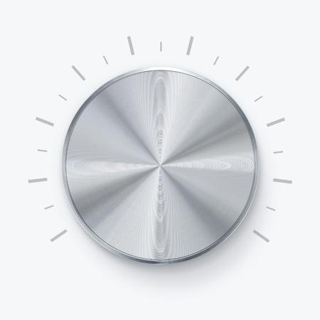 stereo: Ronde brillant bouton de volume sur fond blanc