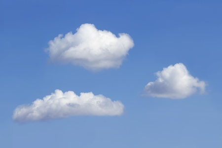 Three clouds on the sky with copy space Stock Photo - 13090141