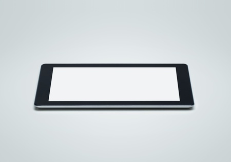 Side view of blank digital tablet photo