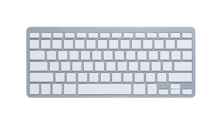 Blank computer keyboard isolated on white background with clipping path  photo