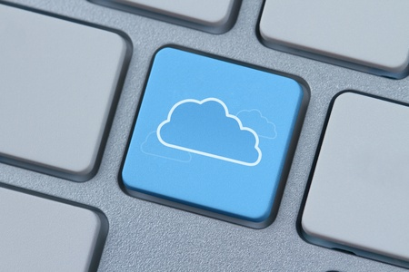 Cloud symbol at computer key Stock Photo - 13346098