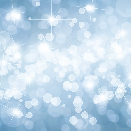 Blue defocused lights background with copy space Stock Photo