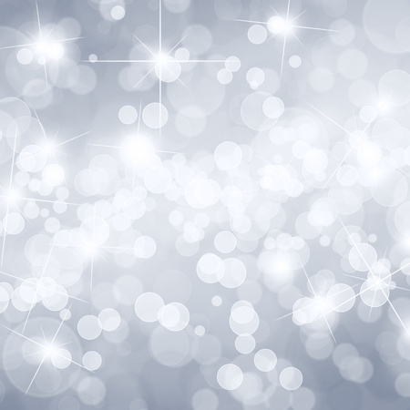 party background: Silver defocused lights background with copy space