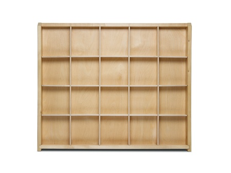 Empty wooden shelf isolated on white background Stock Photo - 13655743