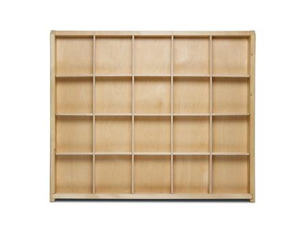 Empty wooden shelf isolated on white background Stock Photo - 13655743