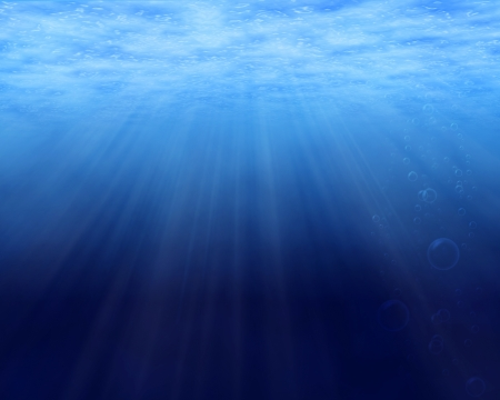 underwater diving: Tranquil underwater scene with copy space Stock Photo