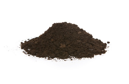 Pile Of Soil Isolated On White Background photo