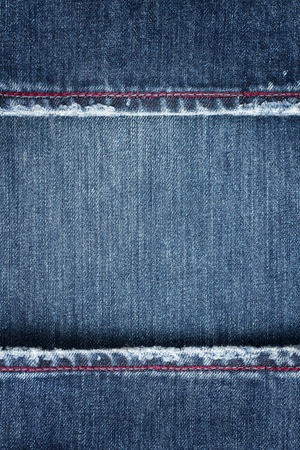 Jeans background border with copy space Stock Photo - 14420714