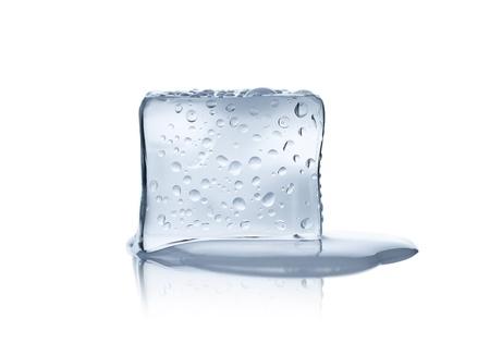 Melting ice cube isolated on white background Stock Photo - 14420704