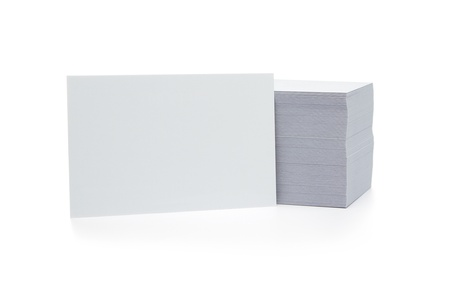 Stack of blank business cards isolated on white background with copy space Stock Photo - 14420677