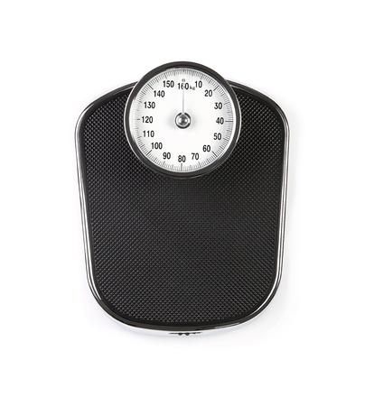 balanza en equilibrio: Escala de peso Retro aisladas sobre fondo blanco