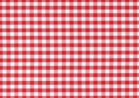 checks: Classic linen red and white checked tablecloth texture with copy space