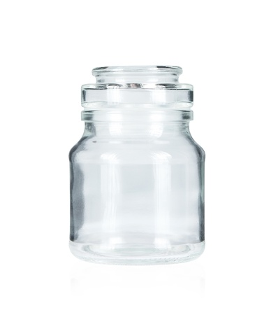 Empty glass jar isolated on white background Stock Photo - 14645192
