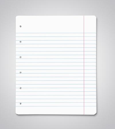 Pila de hojas de papel en blanco, con copia espacio
