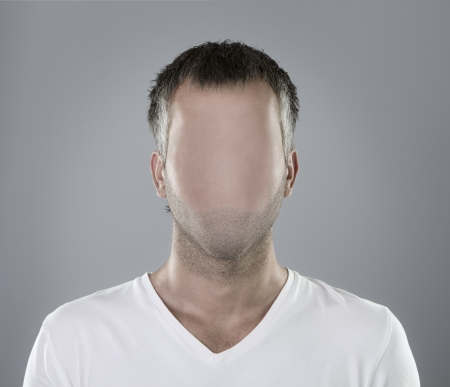 unrecognizable person: Faceless person portrait