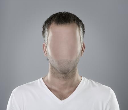 Retrato, persona sin rostro Foto de archivo