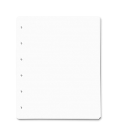 Stack of blank paper sheets isolated on white  Stock Photo - 15201541