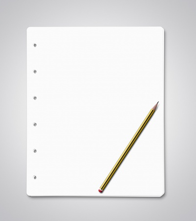 Stack of blank paper sheets Stock Photo - 15201547