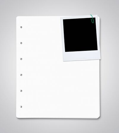 Stack of paper sheets with blank photo Stock Photo - 15201543