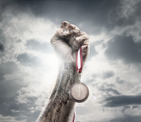 determination: Winner Stock Photo