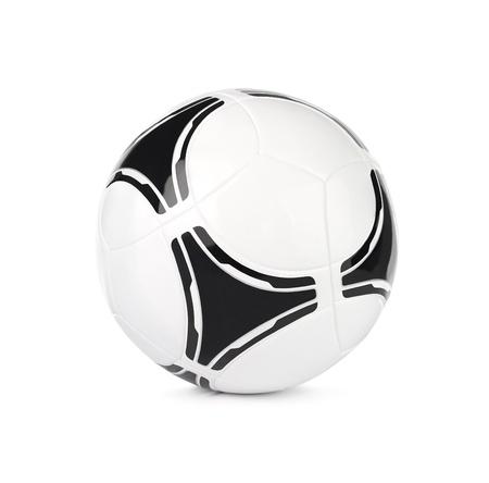 leather ball: Modern bal�n de f�tbol, ??f�tbol aisladas sobre fondo blanco