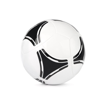 play ball: Modern soccer ball, football isolated on white background