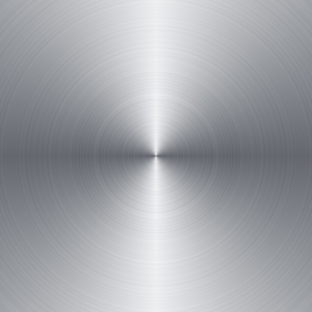 brushed steel: Radial brushed metal background with copy space