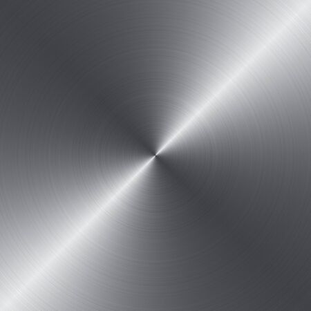 Radial brushed metal background with copy space photo