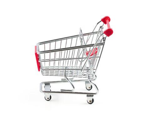 Empty shopping cart isolated on white background Stock Photo - 15283865