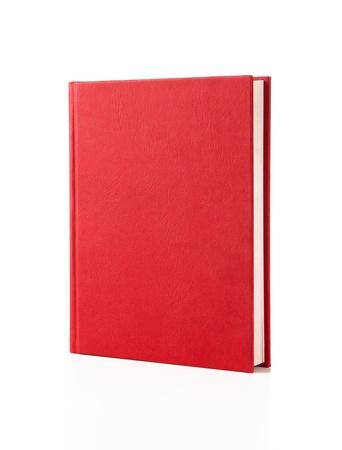 leeres buch: Blank red Hardcover-Buch auf wei�em Hintergrund mit Kopie Raum isoliert Lizenzfreie Bilder