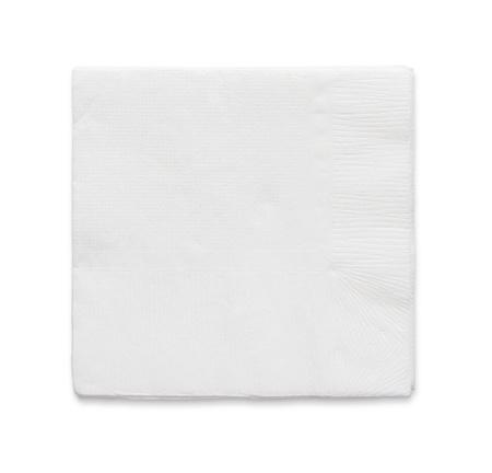 serviette: Blank papaer servet geïsoleerd op een witte achtergrond met kopie ruimte